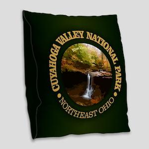 Cuyahoga Valley NP Burlap Throw Pillow