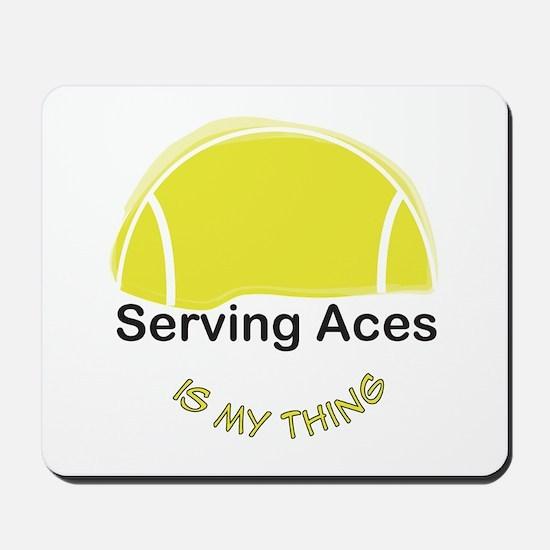 Tennis-Serving Aces Mousepad