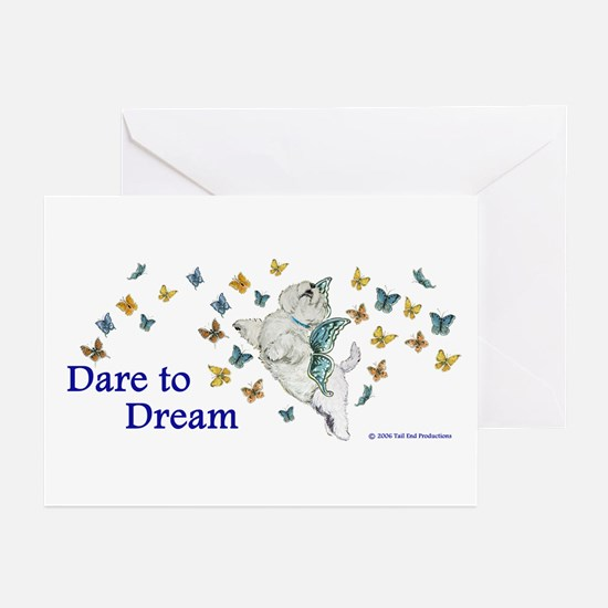 Dare To Dream Westie Greeting Cards (Pk of 10)