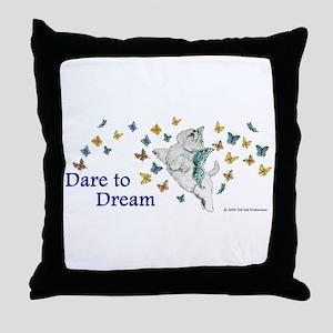 Dare To Dream Westie Throw Pillow
