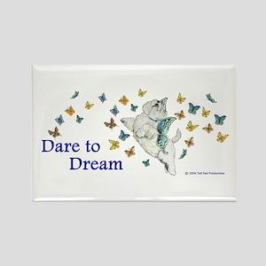 Dare To Dream Westie Rectangle Magnet