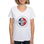 We Occupy 99% Women's V-Neck T-Shirt