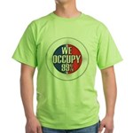 We Occupy 99% Green T-Shirt