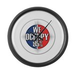 We Occupy 99% Large Wall Clock