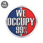 """We Occupy 99% 3.5"""" Button (10 pack)"""