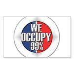 We Occupy 99% Sticker (Rectangle 10 pk)