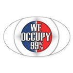 We Occupy 99% Sticker (Oval 50 pk)