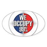 We Occupy 99% Sticker (Oval 10 pk)