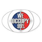 We Occupy 99% Sticker (Oval)