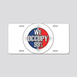 We Occupy 99% Aluminum License Plate