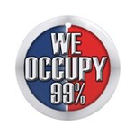 We Occupy 99% Ornament (Round)