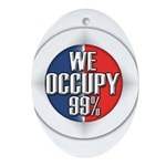 We Occupy 99% Ornament (Oval)