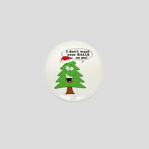 Funny Merry Christmas tree Mini Button