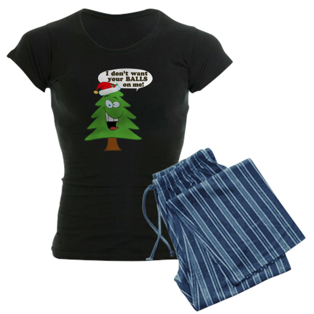 CafePress Funny Merry Christmas Tree Women\'s Pajamas (593747076) | eBay