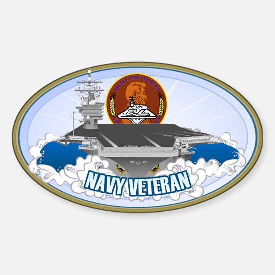 CVN-72 USS Lincoln Sticker (Oval)