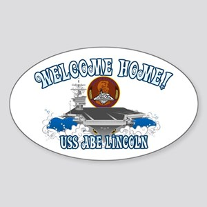 Welcome USS Lincoln! Sticker (Oval)