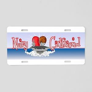 Navy Girlfriend Aluminum License Plate