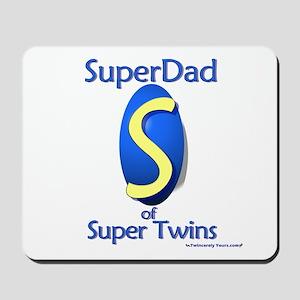 Super Dad of Super Twins Mousepad