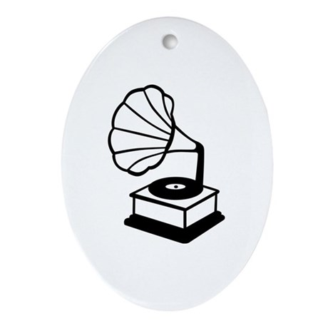 Gramophone Ornament (Oval)