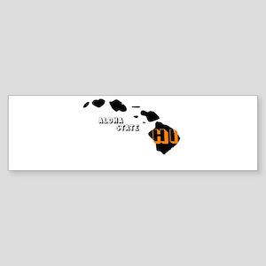 HI ALOHA STATE Bumper Sticker