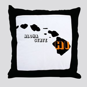HI ALOHA STATE Throw Pillow