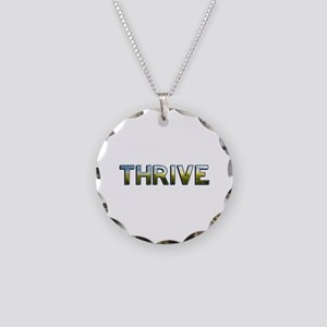 Thrive Necklace Circle Charm