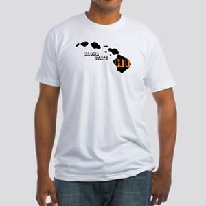 HI ALOHA STATE Fitted T-Shirt