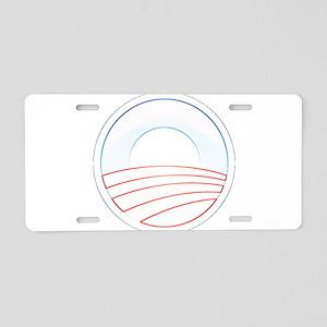 Obama Slim Logo Aluminum License Plate