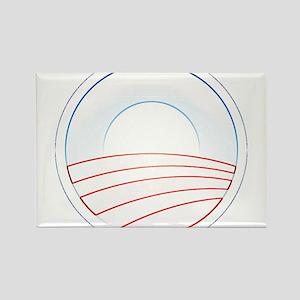 Obama Slim Logo Rectangle Magnet