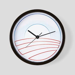 Obama Slim Logo Wall Clock