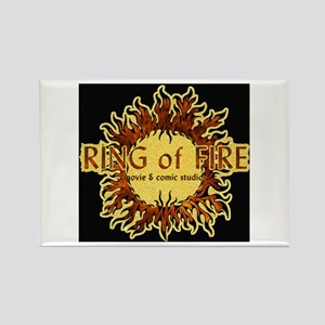 Sun Fire BLACK logo Rectangle Magnet