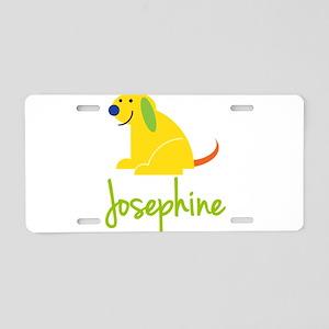 Josephine Loves Puppies Aluminum License Plate