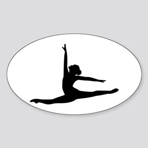 Ballet Dancer Ballerina Sticker (Oval)