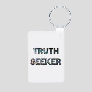 Truth Seeker Aluminum Photo Keychain