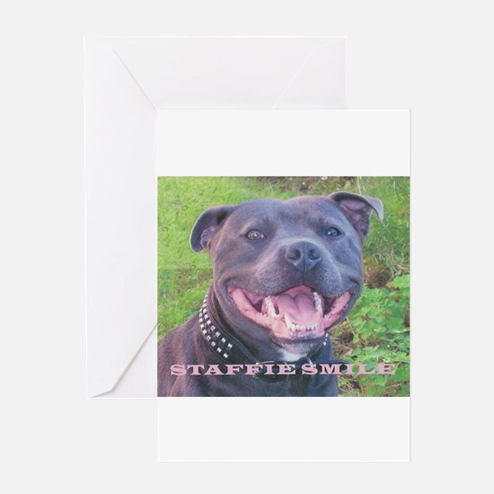 Funny Staffie Greeting Card
