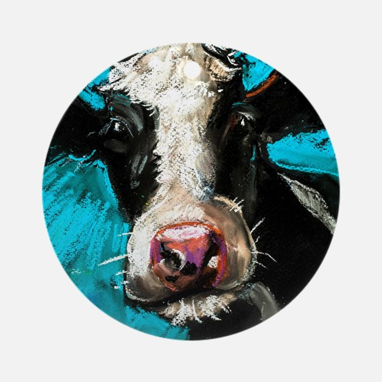Cow Painting Round Ornament