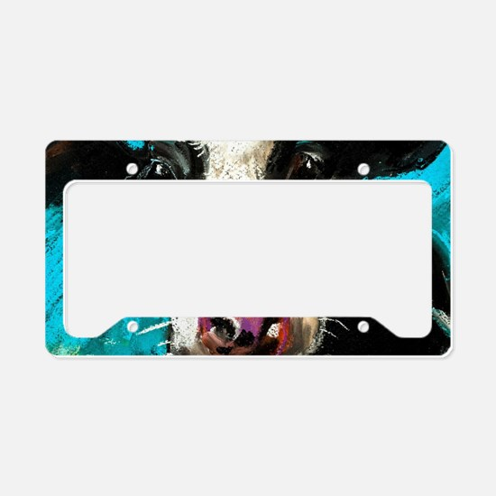 Cow Painting License Plate Holder
