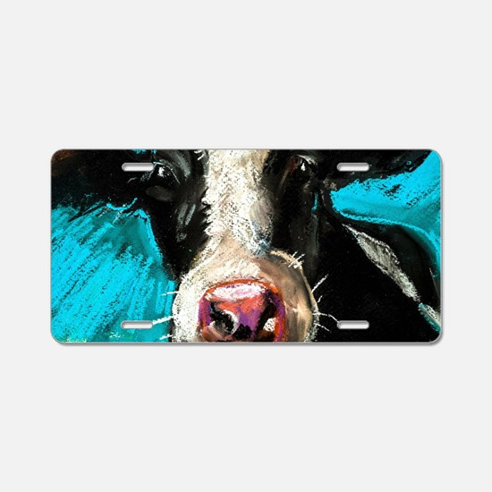 Cow Painting Aluminum License Plate