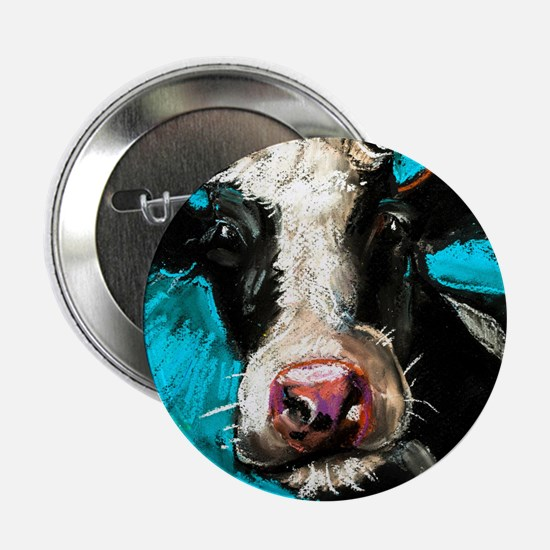 """Cow Painting 2.25"""" Button (10 pack)"""