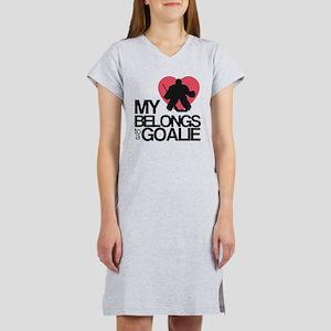 Belongs to a Goalie Women's Nightshirt
