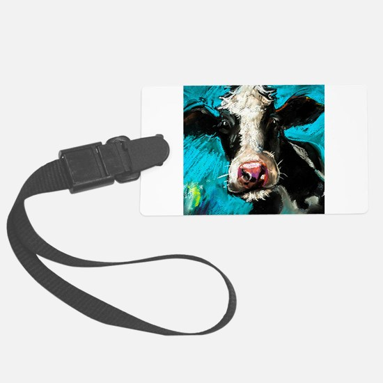 Cow Painting Luggage Tag