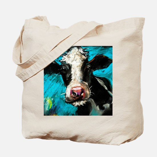 Cow Painting Tote Bag