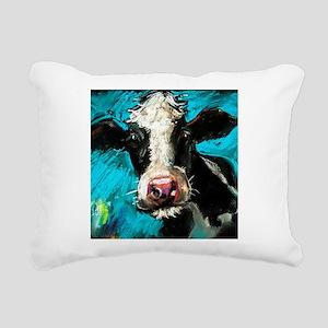 Cow Painting Rectangular Canvas Pillow