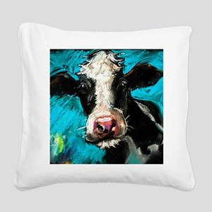 Cow Painting Square Canvas Pillow