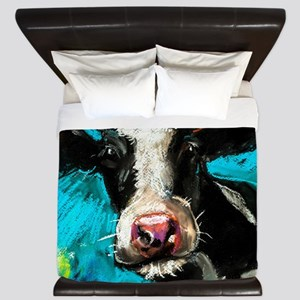 Cow Painting King Duvet