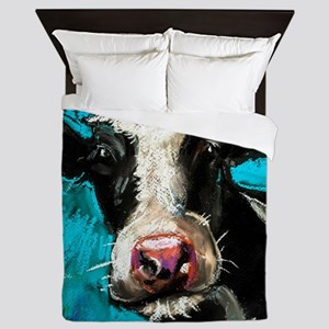 Cow Painting Queen Duvet