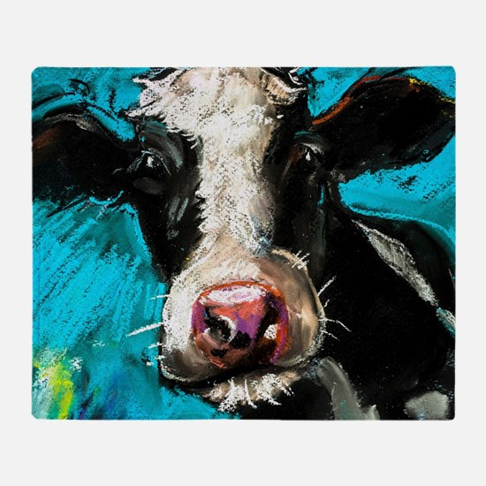 Cow Painting Throw Blanket