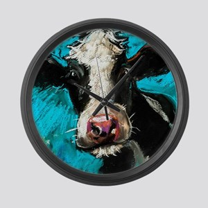 Cow Painting Large Wall Clock