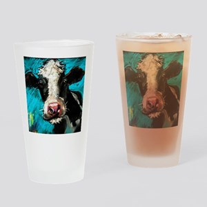 Cow Painting Drinking Glass