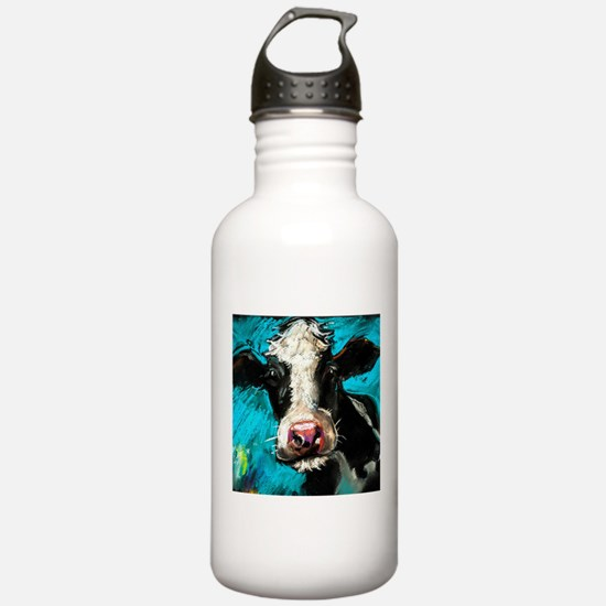 Cow Painting Water Bottle